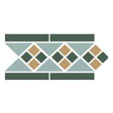 Бордюр керамический Border LISBON with 1 strip (Tr.13, Dots 18+03, Strips 18) 28х15 см