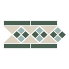 Бордюр керамический Border LISBON with 1 strip (Tr.16, Dots 13+18, Strips 18) 28х15 см