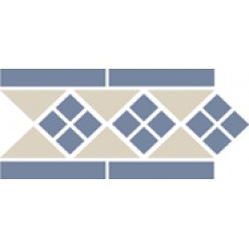 Бордюр керамический Border LISBON with 1 strip (Tr.16, Dots 11, Strips 11) 28х15 см