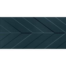 4D Chevron Deep Blue Matt Rett 40х80