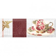 Decor Tea Flowers 01 10x30