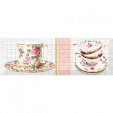 Decor Tea Flowers 02 10x30