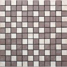 SIENA HOJAS Mosaico Beige-Chocolate