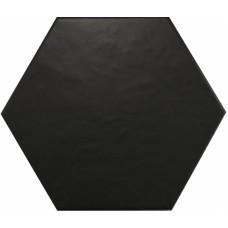 Hexatile Negro Mate 17.5*20