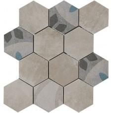 Carpet esagona Ghiaccio 30x30